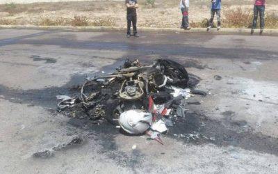 اصطدام بين 3 دراجات نارية يرسل 4 أشخاص إلى المستشفى
