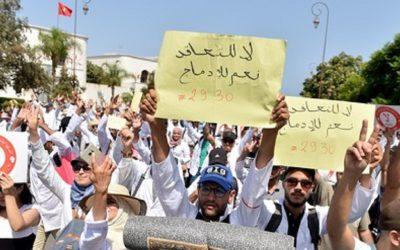 الأساتذة المتعاقدون يقررون التصعيد في وجه الحكومة بخوض إضراب وطني لستة أيام