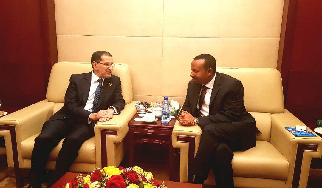 العثماني يجري مباحثات مع نظيره الإثيوبي حول سبل تعزيز علاقات الصداقة والتعاون بين البلدين