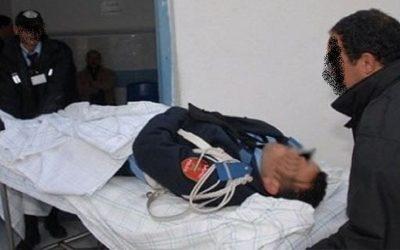 خطير..شاب يعتدي على شرطي بواسطة السلاح الأبيض بالعيون