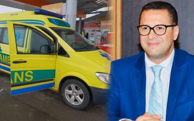 جمعية سويدية تقدم سيارة اسعاف لرئيس جماعة بنمنصور بالقنيطرة