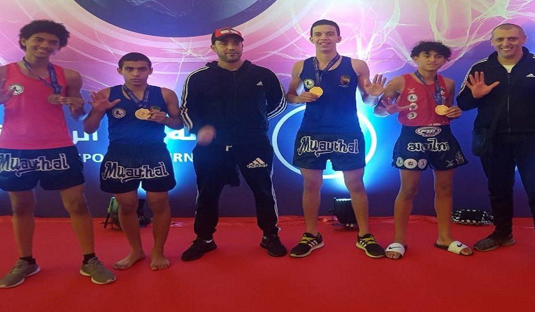 ثلاث شبان من مغاربة العالم يفوزون بثلاث ميداليات في بطولة مواي تاي بأبوظبي