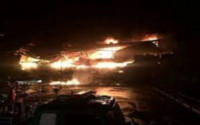 اندلاع حريق مهول بمركز تجاري ممتاز بمراكش