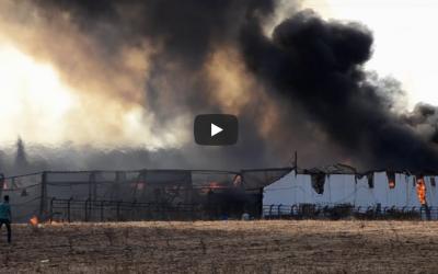 حريق مهول يشب بأحد مصانع الخشب بالمحمدية