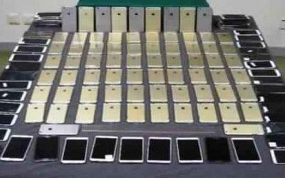 إحباط محاولة لتهريب 500 هاتف نقال