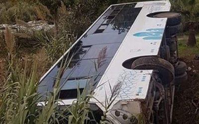 انقلاب حافلة للنقل الحضري ضواحي مكناس يسفر عن إصابة تسعة أشخاص بجروح متفاوتة الخطورة