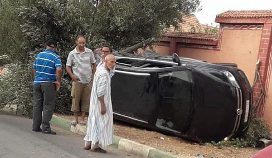 حادثة سير خطيرة  بخريبكة + صور