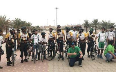 حجاج بريطانيون يصلون للسعودية على متن دراجات هوائية لأداء مناسك الحج