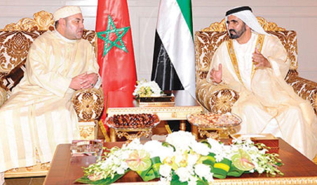 شيوخ الإمارات يهنئون الملك محمد السادس بالذكرى 56 لعيد الشباب