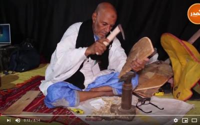 طريقة صناعة الراحلة التي يستعملها الصحراوي لركوب الجمال