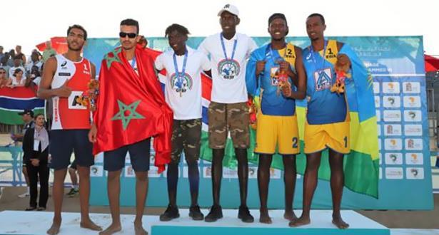 المنتخب المغربي للكرة الطائرة الشاطئية يفوز بالميدالية الفضية