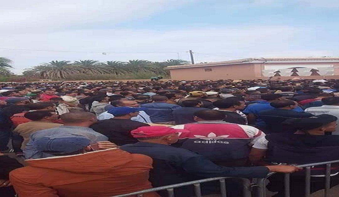 مئات المغاربة يتوافدون على ولاد تايمة للظفر بعرض عمل في ضيعات الحوامض الفرنسية