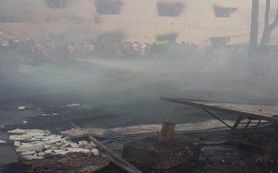 ساعات من الرعب وإنفجارات جراء حريق مهول إلتهم أحد أسواق فاس