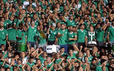 جمهور الرجاء يقاطع مباراة فريقه ضد أولمبيك آسفي ويحتج على إدارة الفريق المسفيوي