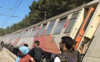 ONCF تعلق على حادث إنقلاب قطار بوسكورة