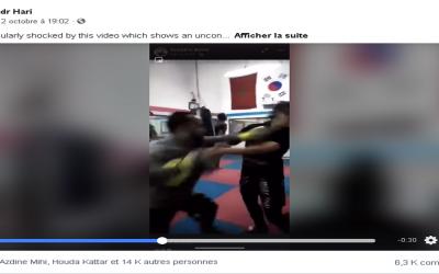 """ضجة عارمة بعد نشر حساب """"بدر هاري"""" لفيديو مدرب يعتدي على متدربته"""