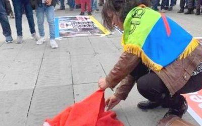 جمعية أسر شهداء ومفقودي وأسرى الصحراء المغربية تشجب واقعة حرق العلم الوطني بباريس