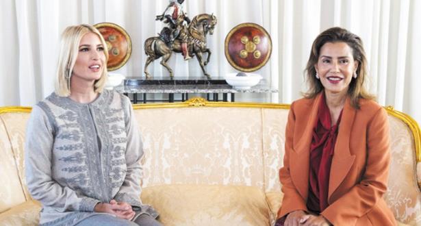 الملك محمد السادس يقيم مأدبة عشاء على شرف إيفانكا ترامب