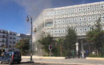 """بعد افتتاحه بأيام قليلة.. حريق بالمركز التجاري الجديد """"الرباط سانتر"""""""