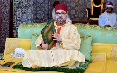 الملك محمد السادس يترأس حفلا دينيا بضريح محمد الخامس بالرباط بمناسبة الذكرى 21 لوفاة الملك الحسن الثاني