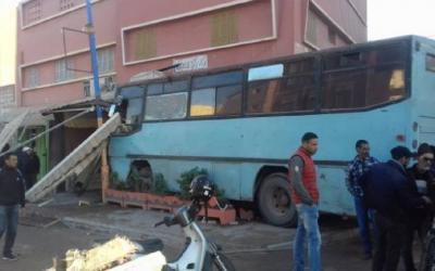 حافلة تقتحم أحد المقاهي بإنزكان