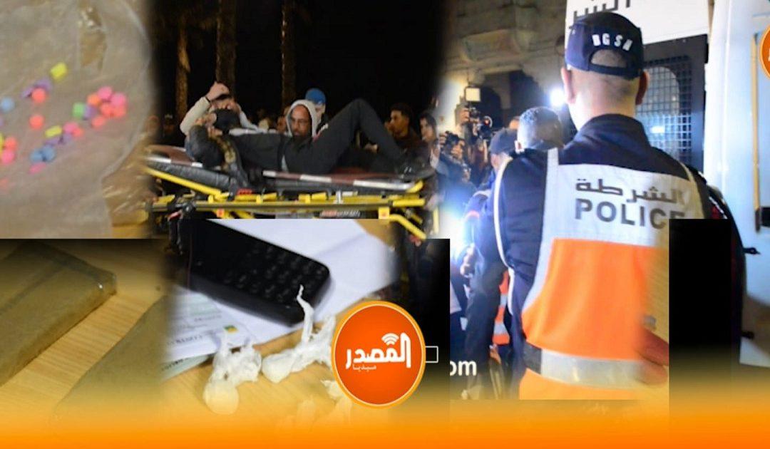 ليلة رأس السنة حافلة بالأحداث : إعتقالات بالجملة لمرويجي المخدرات بشتي أنواعها حوادث سير وسكر