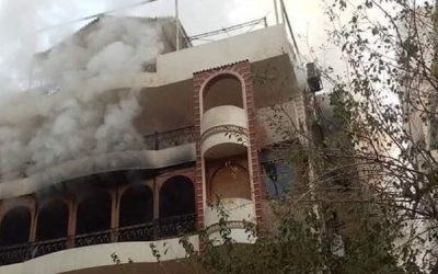 حريق بمنزل الفنان إيهاب توفيق يسفر عن وفاة والده + صور