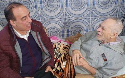 عبيابة يتتبع الحالة الصحية للممثل محمد الخلفي ويزوره في بيته