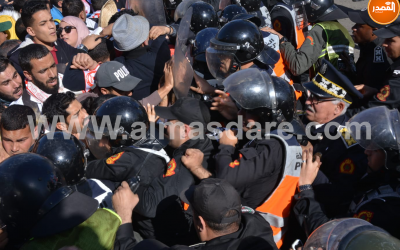 إصابات في صفوف الأساتذة المتعاقدين بعد مواجهات مع رجال الأمن