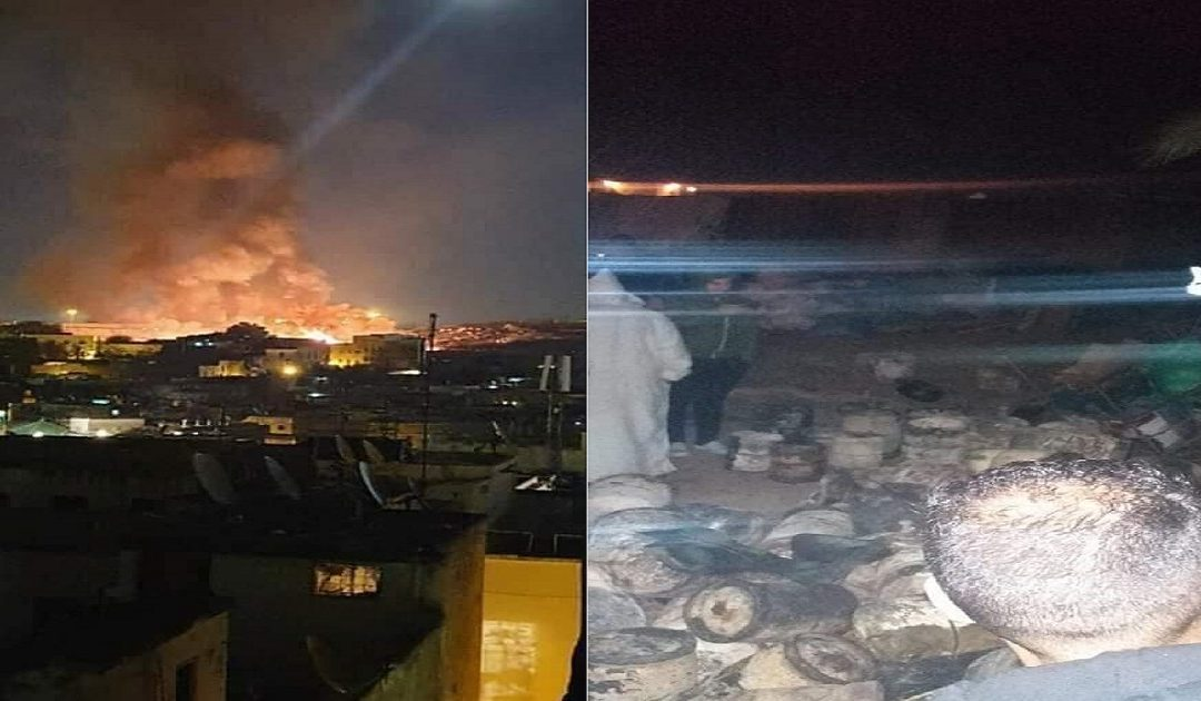 حريق مهول يلتهم  مستودعا لقنينات الغاز بفاس