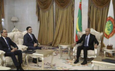 """الرئيس الموريتاني  يستقبل وزير الشؤون الخارجية والتعاون """"ناصر بوريطة"""""""