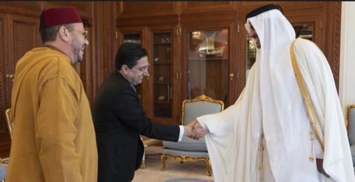 أمير قطر يستقبل مستشار الملك محمد السادس فؤاد عالي الهمة