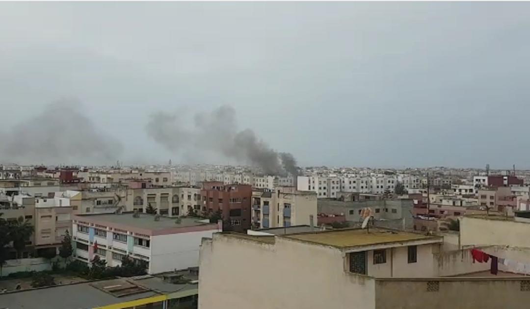 أنباء عن وفيات في حريق باحدى الاقامات السكنية بسلا