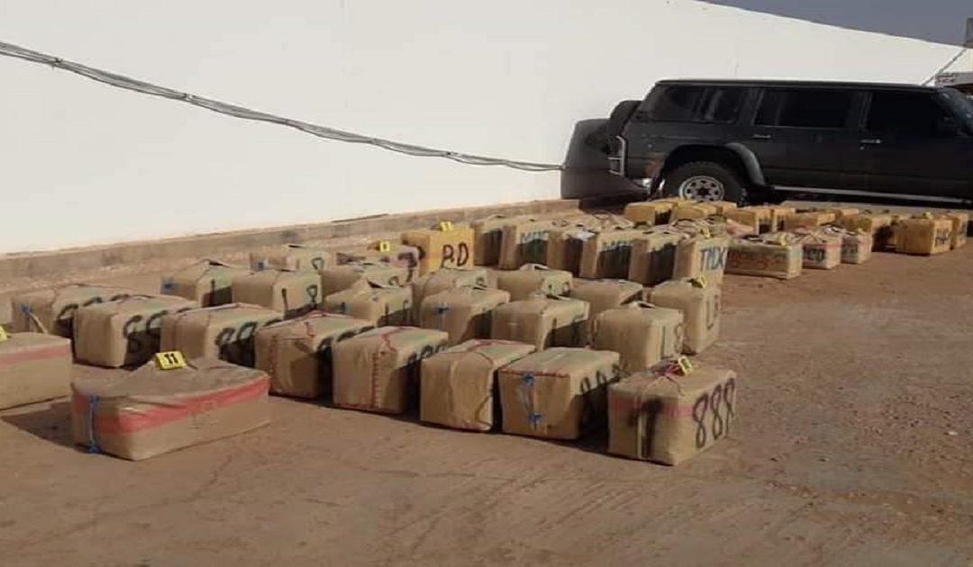 توقيف  بشبكة تنشط في التهريب الدولي للمخدرات وبحوزتها مايفوق طن  ونصف من الشيرا بطانطان / بلاغ
