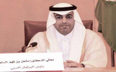 رئيس البرلمان العربي يُطالب بوقف فوري لإطلاق النار في ليبيا