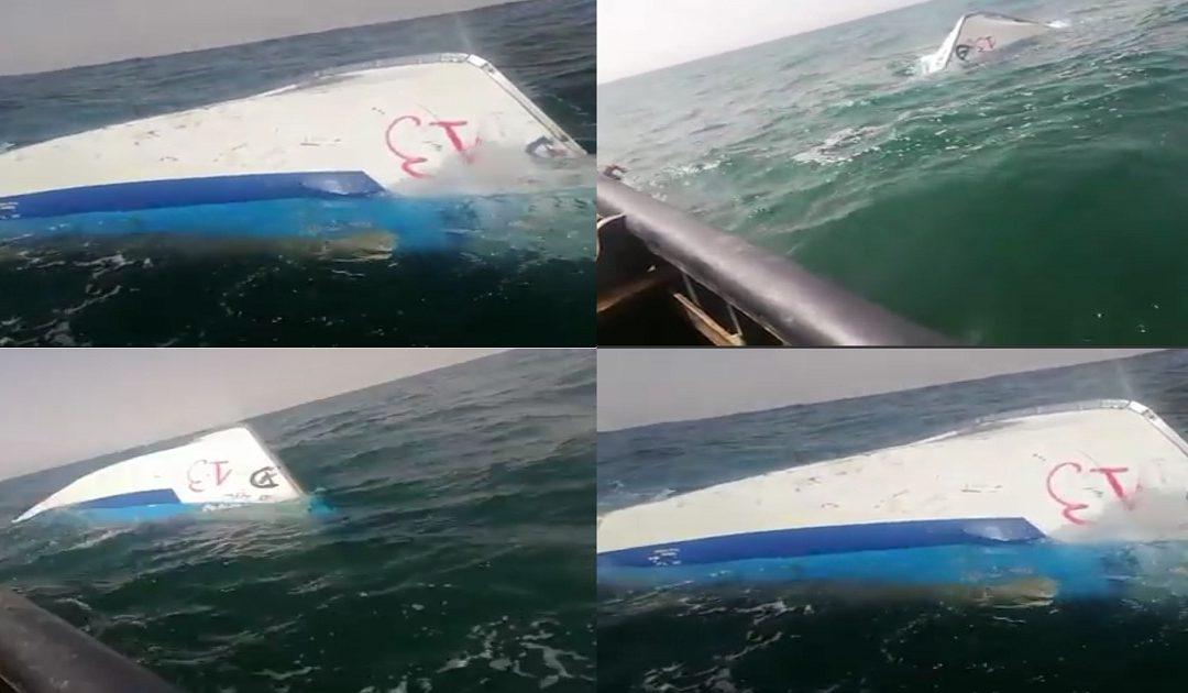 البحر يلفظ جثتين  لطاقم زورق غرق بسواحل الداخلة