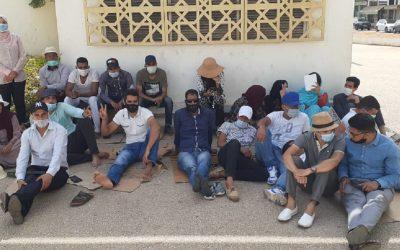 العدول المرسبين يخوضون إضرابا إنذاريا عن الطعام أمام وزارة العدل ويقررون التصعيد ضد بنعبد القادر + صور
