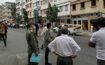 سلطات البيضاء تشرع في عملية هدم المنازل الآيلة للسقوط بمقاطعة سباتة + صور