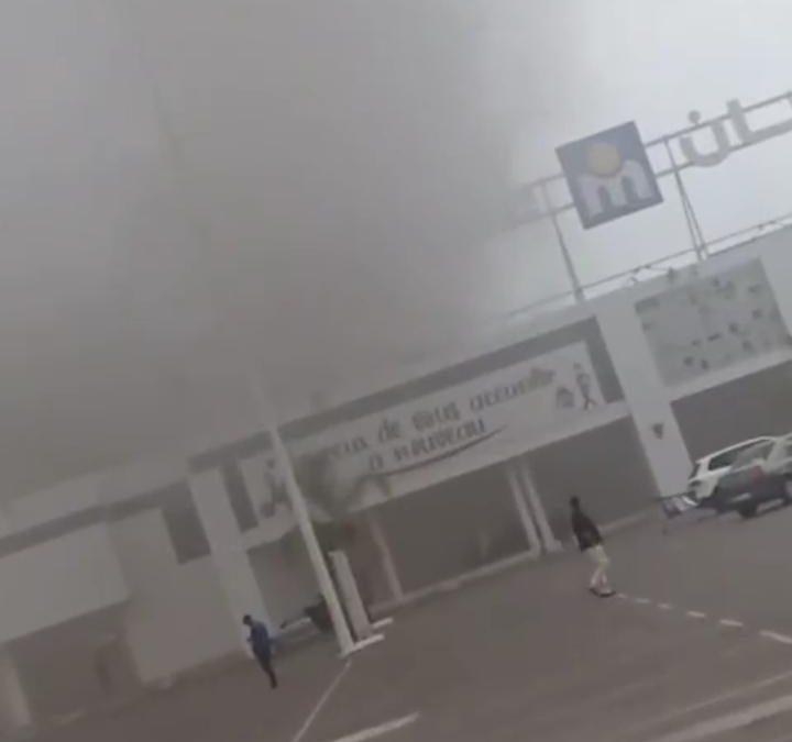 """الرباط..اندلاع حريق مهول بالسوق التجاري """"مرجان"""""""