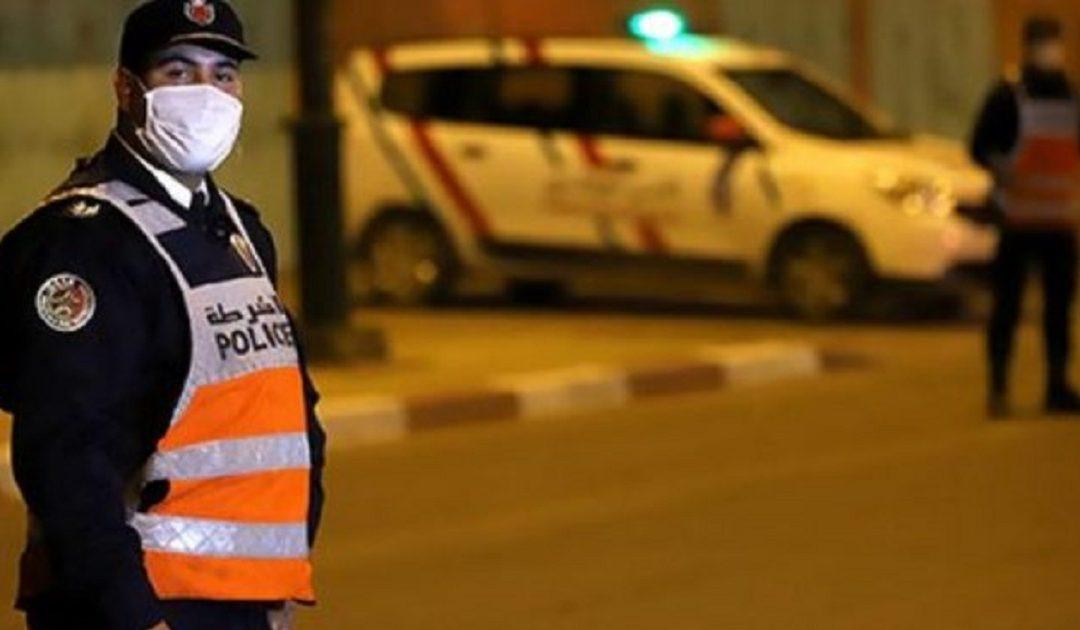 أمن البيضاء يعتقل 13 شخصا بينهم قاصرين ألحقوا خسائر مادية بممتلكات خاصة