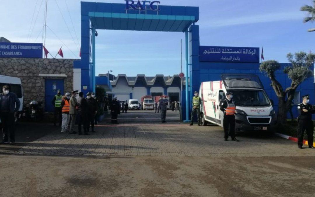 وصول اللقاح الصيني لمركز التثليج في الدار البيضاء