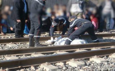 مؤلم .. قطار يحول جثة شخص إلى أشلاء متناثرة نواحي الناظور
