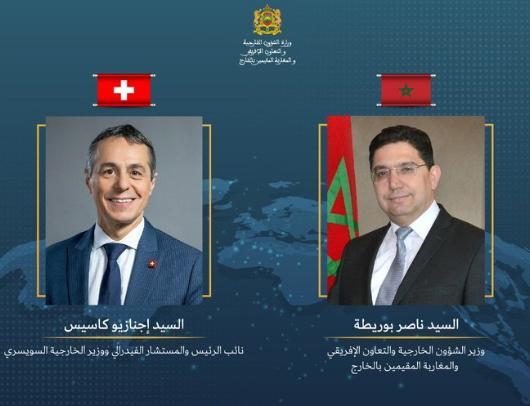 ناصر بوريطة يجري مباحثات مع نظيره السويسري